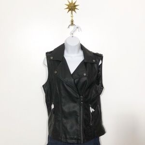 Max Studio vegan leather moto vest
